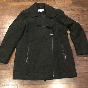 Michael Kors forest green wool coat